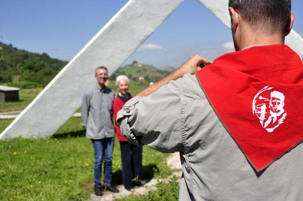 """Montenegro, Pljevlja, monumento ai caduti italiani della Divisione """"Garibaldi"""" nella lotta di liberazione nazionale - fotografia di Vittorio Ferorelli"""