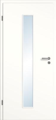 Weißlack 1.0 mit schmalem Lichtausschnitt mittig