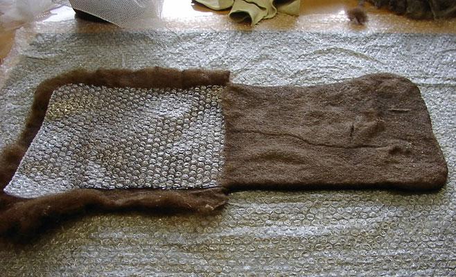 Die Form der Tasche wird festgelegt