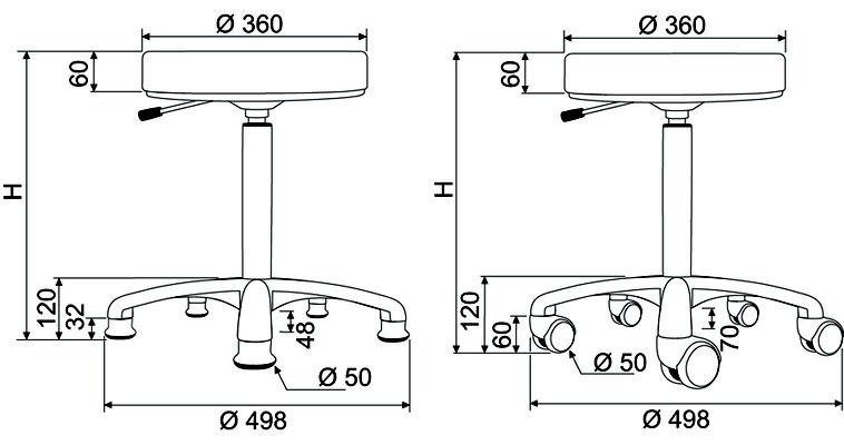 Schémas sièges et tabopurets Promotal®