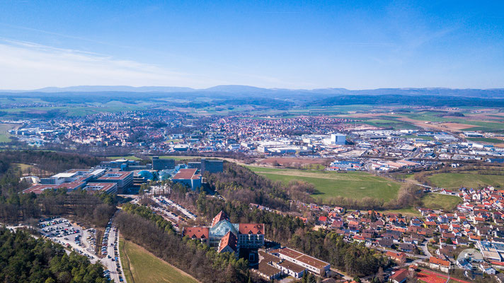 Herschfeld, Rhön Klinikum Campus und Bad Neustadt