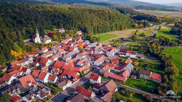 Heufurt ein Ortsteil von Fladungen mit gut 300 Einwohnern.