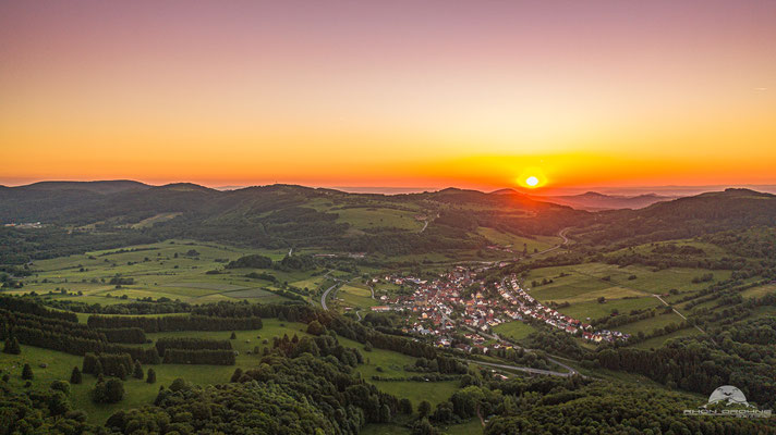 Sunset über Oberweißenbrunn