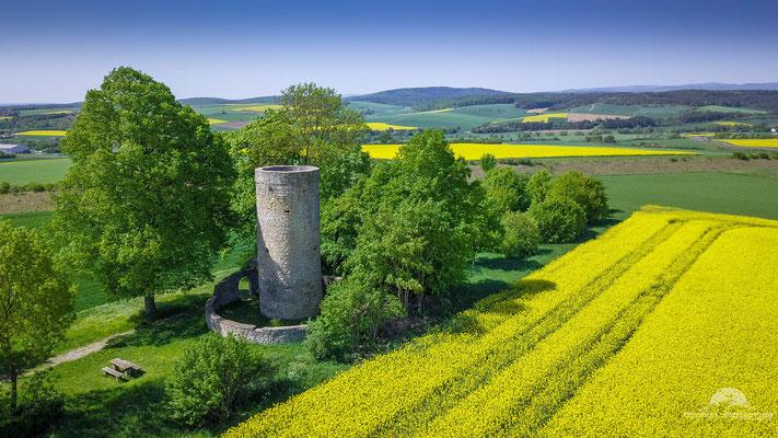Der Galgenturm nahe Mellrichstadt. Etwa 500 m entfernt Richtung Stadt stand einst der Galgen