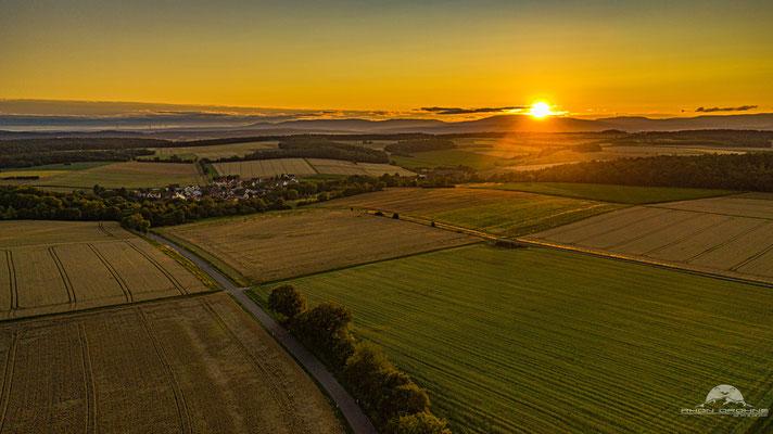 Sonnenuntergang in der Nähe von Münnerstadt