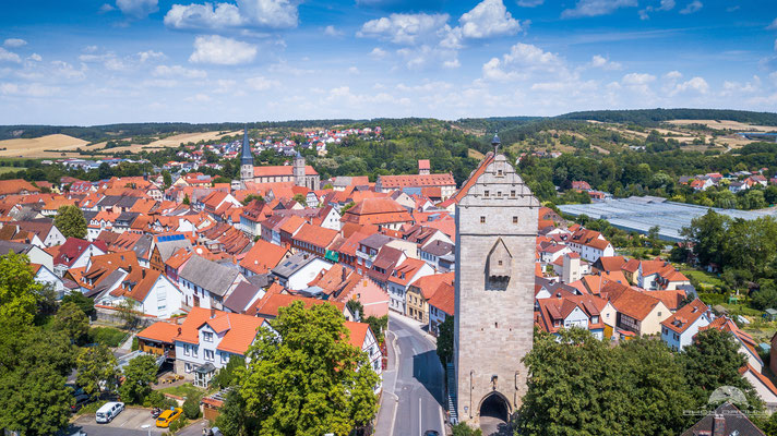 Das unterfränkische Münnerstadt mit seiner historischen Altstadt