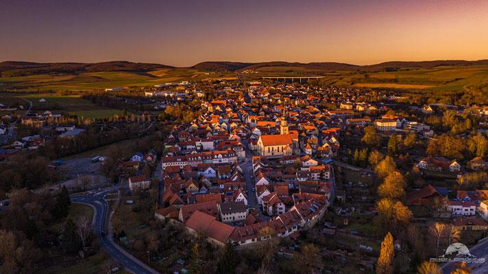 Kurz vor Sonnenuntergang in Mellrichstadt