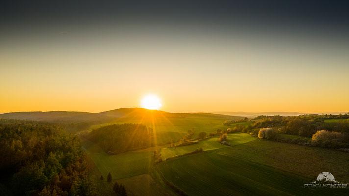 Sonnenuntergang in der Rhön