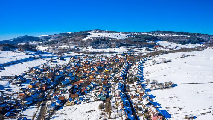 Der Rhöner Wintersportort Oberweißenbrunn
