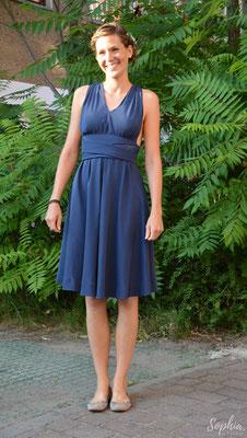 farbiges Brautkleid aus reiner Seide mit Bändern als Oberteil zum individuellen Binden