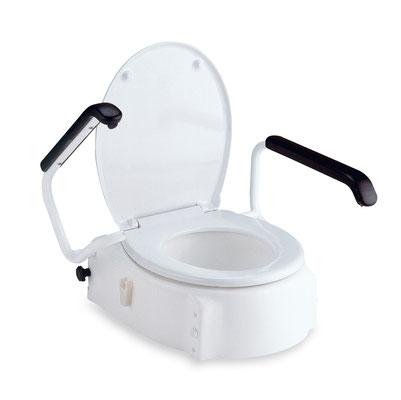 Toilettensitzerhöhung mit Armlehnen. Beratung und Verkauf direkt bei reha team Saggau, Ihr Fachgeschäft vor Ort für Ihr Sanitätsbedarf!