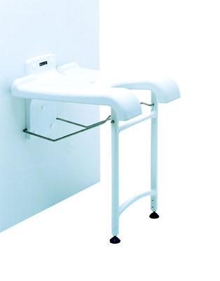 Duschklappsitz bietet so eine komfortable und sichere Sitzmöglichkeit beim Duschen. Bei Nichtgebrauch ist der Duschklappsitz platzsparend nach oben geklappt und nimmt dann nur noch wenig Platz weg
