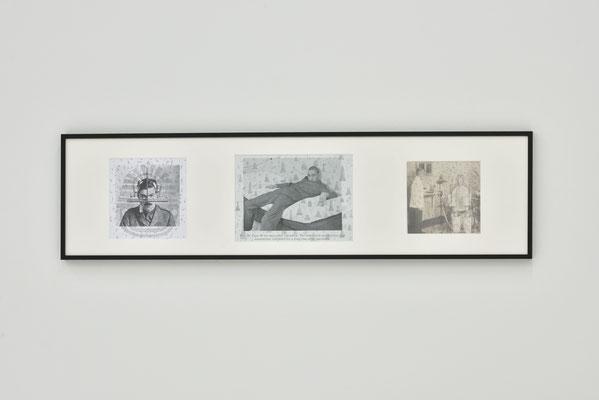 三人のルッベルト(Three Lubberts)/2018/W110×H29㎝/プリントイメージ、鉛筆(printed images, pencil) Photo by OSHIMA Takuya