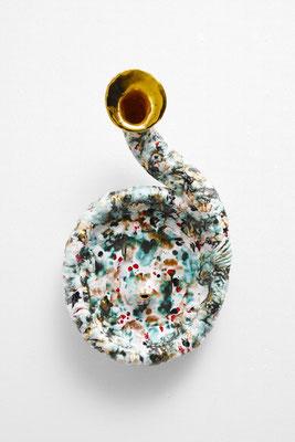 Coquille/2019/W35×D20×H65㎝/ ceramic /photo by Takeru Koroda