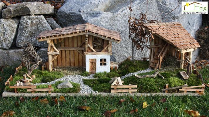 Hügellandschaften sorgen für echtes Heimatgefühl (Abmessungen ca. 100x40cm, Figurenhöhe 9-12cm)