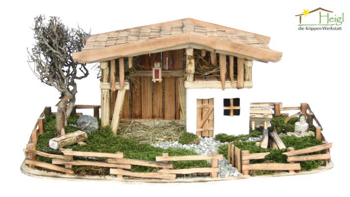 """Alle unsere Online-Shop Modelle erhalten Sie auf Wunsch auch mit wunderschöner Landschaft. Hier unser Modell """"Zum Bergbauern""""."""