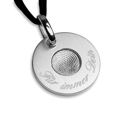 Erinnerungsmünzen mit Fingerabdruck