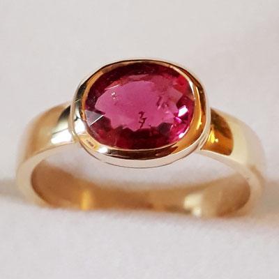 ring-turmalin-585-Gelbgold-unikat-1,68 carat-Ringweite 56 veränderbar
