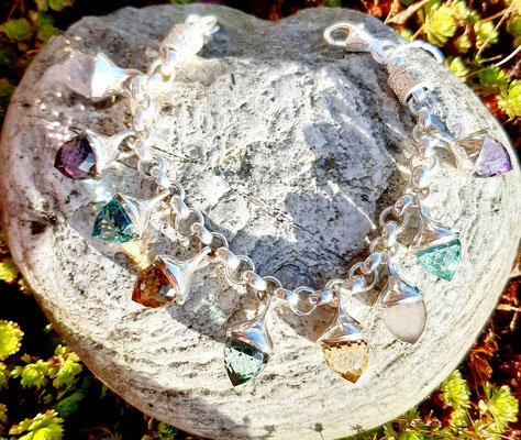 armband-tropfen-verschiedene edelsteine-silber-sterling-925