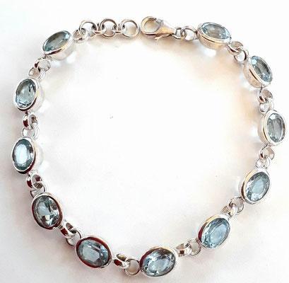 armband-sterling-silber-925-blautopas-beh.-9x7 mm-auch in anderen farben-granat-amethyst-peridot