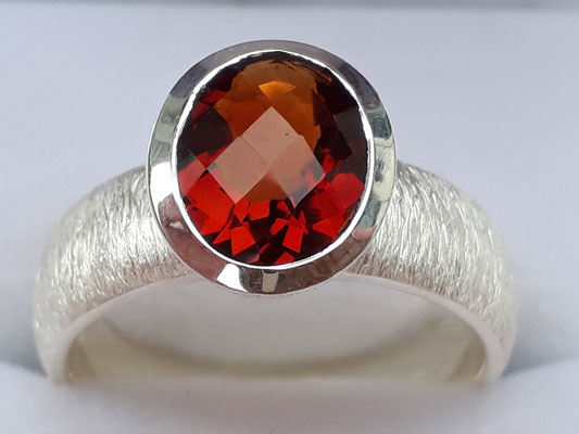 ring-sterling-silber-citrin-orange-9x7 mm-seltene farbe-wunderbares feuer