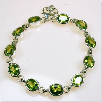 armband-peridot-sterling-silber-925-9x7mm-auch in blautopas-beh.-granat-amethyst