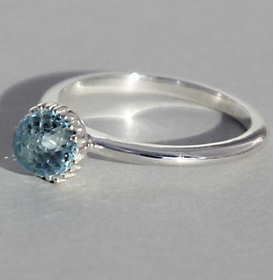 ring-sterling-silber-925-blautopas-beh.-6 mm-auch in anderen steinfarben-mondstein