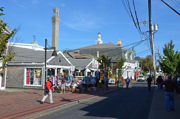 Wir bummeln durch die malerische Kleinstadt Provincetown in der Nordspitze des Cape Cod.