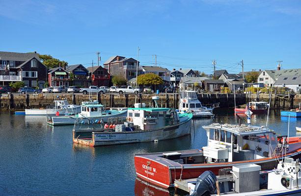 ... am kleinen Hafen von Rockport