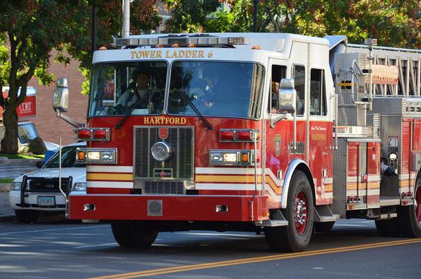Feuerwehr in Hartford - die Hauptstadt von Connecticut
