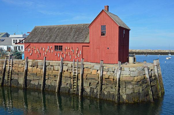 """Die rote Fischerhütte """"Motif No. 1"""" in Rockport"""