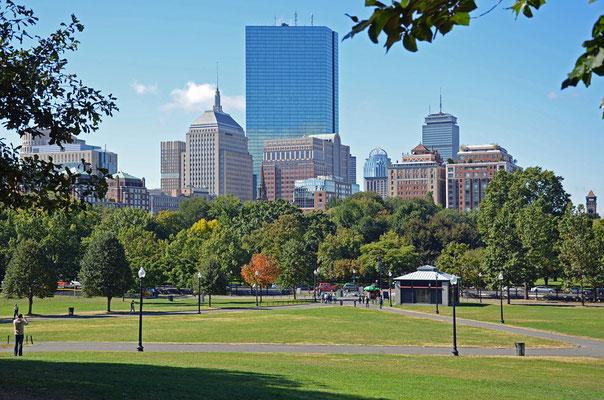 Blick vom Boston Common nach Downtown
