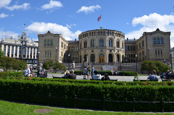 Das Storting ist das Parlament von Norwegen und hat seinen Sitz hier in Oslo.