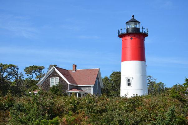 Hier am Nauset Lighthouse endete eines der ersten Übersee-Telegraphenkabel.