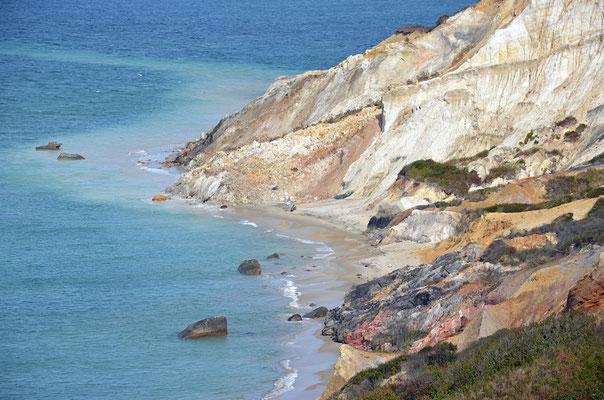 Die Aquinnah Cliffs sind bei Fotografen sehr beliebt.