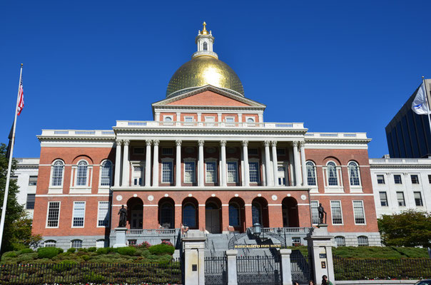 Das Massachusetts State House von 1798 diente als Vorbild für viele Parlamentsgebäude in den USA.