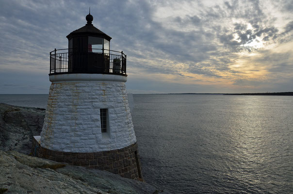 Das Castle Hill Lighthouse in Newport, Rhode Island