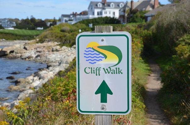 ... unterwegs auf dem atemberaubenden Cliff Walk