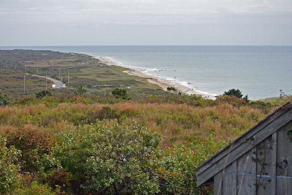 Blick von Aquinnah über die Südküste von Martha´s Vineyard.