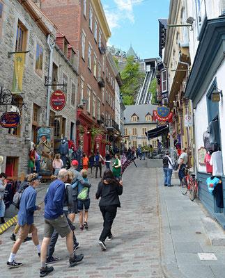 ... unterwegs zur Rue Petit-Champlain