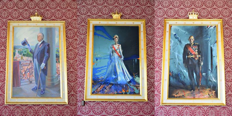 König Olav V. (1903-1991) - Königin Sonja - König Harald V. (König von Norwegen)
