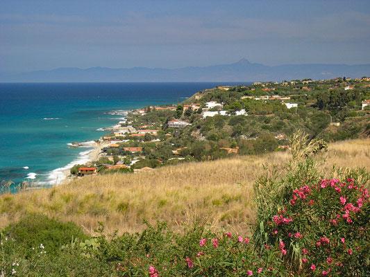 Die Bucht von Riace (Baia di Riace) nördlich vom Capo Vaticano.