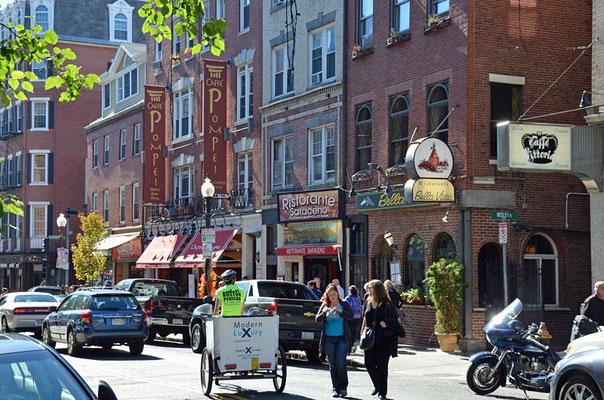 Die Gegend um die Hanover Street im Stadtteil North End wird auch Little Italy genannt.