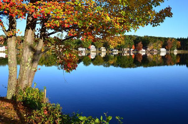 am Cedar Lake in Sturbridge, Massachusetts