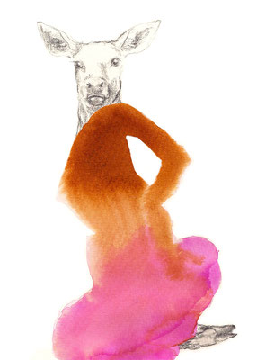 das Tier in mir   IV    A5 Tusche/Bleistift auf Papier  2015