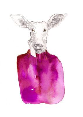 das Tier in mir    III   A5 Tusche/Bleistift auf Papier  2015