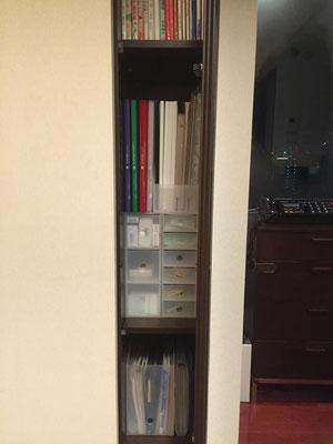ポリプロピレン収納ケースを使用した棚収納