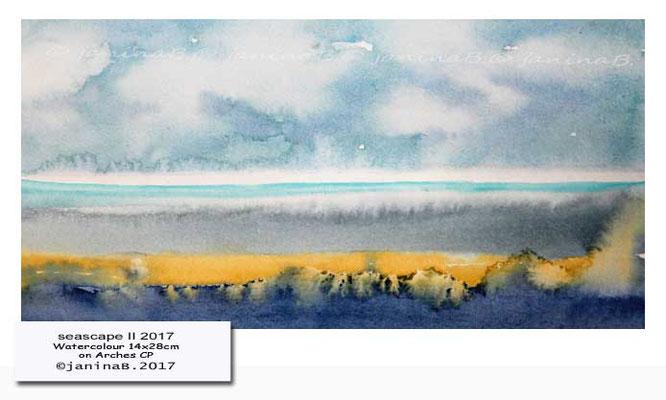 seascape II 2017 / Watercolour 14x28cm on Arches CP © janinaB. 2017
