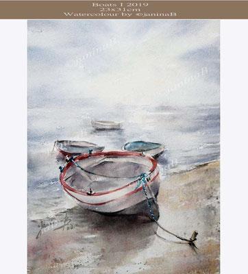 Boats I 2019 (3) / 23x31cm Watercolour by ©janinaB