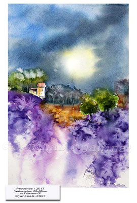 Provence I 2017 / Watercolour 20x30cm on Fabriano CP © janinaB. 2017